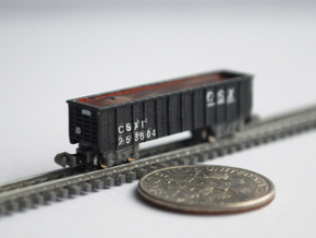T Gauge 8 Hopper Car Set in Smoothest Fine Detail Plastic