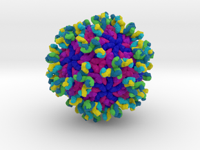 Antibodies Bound to Zika Virus in Full Color Sandstone