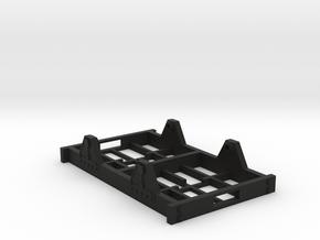 "On30 Railcar Underframe 2"" long detailed in Black Premium Versatile Plastic"