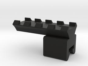 UZI Picatinny Rail type 2 in Black Natural Versatile Plastic