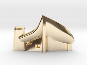 Notre Dame du Haut by Le Corbusier 1954 in 14K Yellow Gold