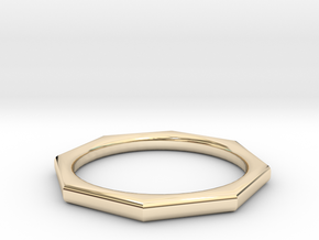 Octagon Ring in 14K Yellow Gold: 6 / 51.5