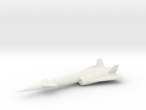 1/200 Scale Navaho SM-64 Missile in White Natural Versatile Plastic