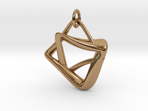 heptagram Knot in Interlocking Polished Brass: Medium