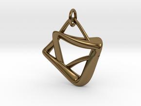 heptagram Knot in Interlocking Polished Bronze: Medium