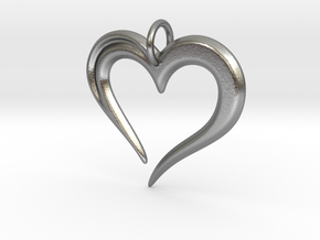 Heart to Heart Pendant V2.0 in Natural Silver