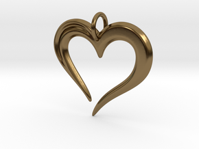 Heart to Heart Pendant V2.0 in Polished Bronze