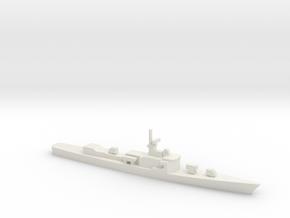 Garcia-class frigate, 1/1800 in White Natural Versatile Plastic