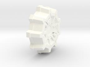 Customisable Vault Door in White Processed Versatile Plastic
