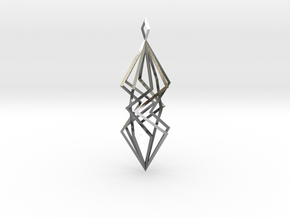 twisted prism pendant in Polished Silver