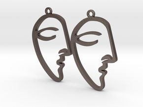 Picasso's Le Rêve (The Dream) Earrings in Polished Bronzed Silver Steel