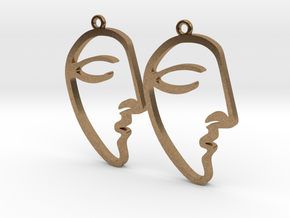 Picasso's Le Rêve (The Dream) Earrings in Natural Brass