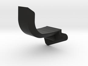Fin Brace Left Side in Black Premium Versatile Plastic