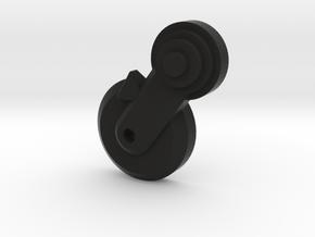 Thumbpin: Round base, Left-side - Tavor Safety in Black Premium Versatile Plastic