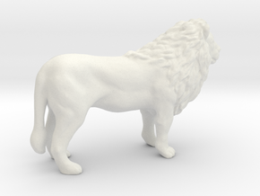 Printle Thing Lion - 1/43.5 in White Natural Versatile Plastic