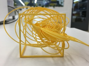Cassini Solstice - cube in Yellow Processed Versatile Plastic