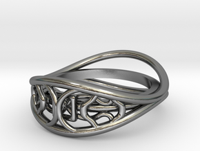 Ring two-sided in Polished Silver: 7 / 54