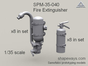 35_SPm041_FireExtinguisher_s1x35 in Smoothest Fine Detail Plastic