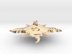 Sun D6 in 14k Gold Plated Brass