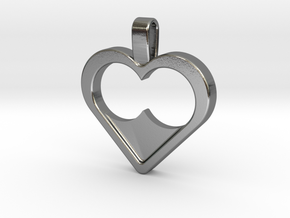 Infinite love in Polished Silver