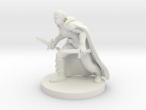 Half Elf Rogue in White Natural Versatile Plastic