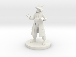 Human Wizard with Pot Belly in White Strong & Flexible