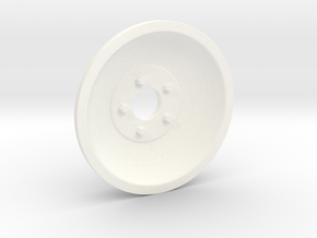 1:8 Front Indy Style Wheel in White Processed Versatile Plastic