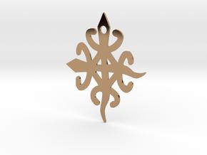 Adinkra Symbol for Unity in Diversity Pendant in Polished Brass
