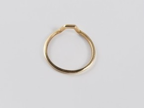 BETTER HALF Ring(HEXAGON), US size 6, d=16,5mm  in Polished Brass: 6 / 51.5
