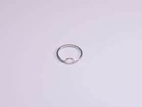 BETTER HALF Ring(HEXAGON), US size 8.5, d=18,5mm  in Polished Silver: 8.5 / 58