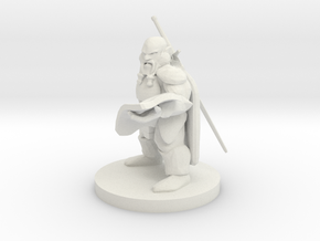 Dwarven Cartographer Fighter in White Natural Versatile Plastic