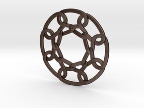 Celtic Woven Circular Chain in Matte Bronze Steel