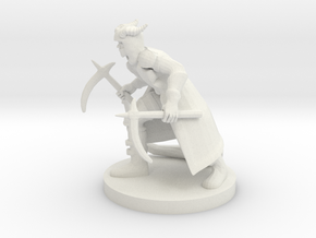 Tiefling Rogue with Scythes in White Natural Versatile Plastic