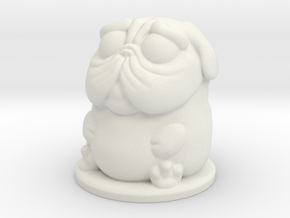 DoggyPop Pug Fawn in White Natural Versatile Plastic