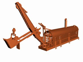 1914 Bucyrus Steam Shovel Z Scale in Frosted Ultra Detail