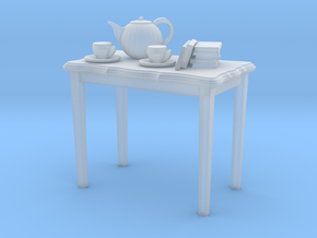 HO scale 2 foot side table with tea pot, cups & a  in Smoothest Fine Detail Plastic