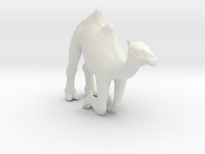 Printle Thing Camel Kneeling - 1/87 in White Natural Versatile Plastic