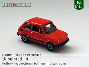 Fiat 126 Personal 4 (N 1:160) in Smooth Fine Detail Plastic