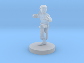 Halfling Monk in Smooth Fine Detail Plastic