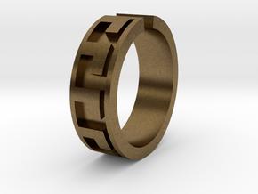 Roman Midi Ring  in Natural Bronze