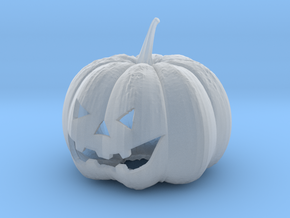 Small Halloween Pumkin in Smooth Fine Detail Plastic