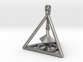 Harry Potter Deathly Hallows 3D Edition in Natural Silver