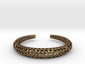 D-Strutura Bracelet Medium Size in Polished Bronze