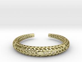 D-Strutura Bracelet Medium Size in 18k Gold Plated Brass