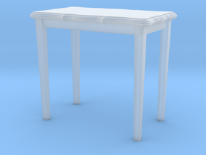 HO Scale 26.5 inch height side table in Frosted Extreme Detail
