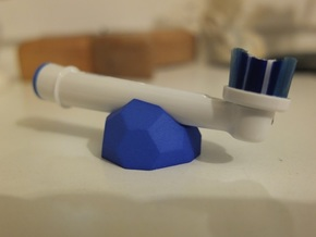 Low-Poly Toothbrush Holder in Blue Processed Versatile Plastic