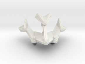 3125 Scale Tholian Battleship (BB) SRZ in White Natural Versatile Plastic