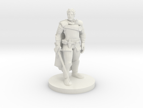 Human Male Fighter in White Premium Versatile Plastic