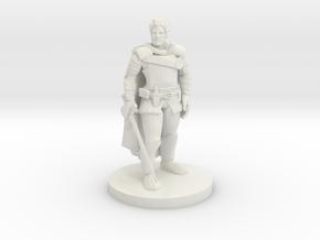 Human Male Fighter in White Premium Versatile Plastic