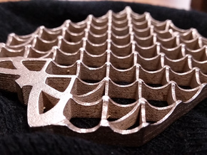 Grid Fin Coaster in Polished Bronzed Silver Steel